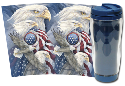 Eagles (Bald) / Together We Stand... - Travel Mug
