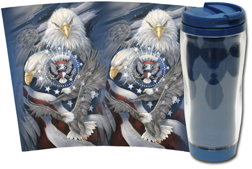Eagles (Bald) / Sheltered Under Mighty Wings - Travel Mug