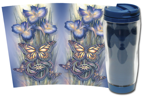 Butterflies / A New Day Has Come - Travel Mug