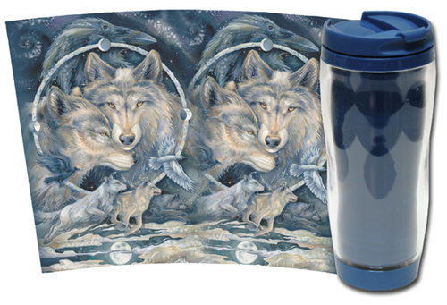 Wolves / In Spirit... I Am Free - Travel Mug