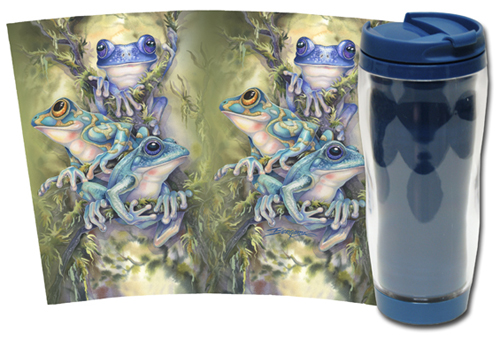 Frogs / Frog Wild - Travel Mug