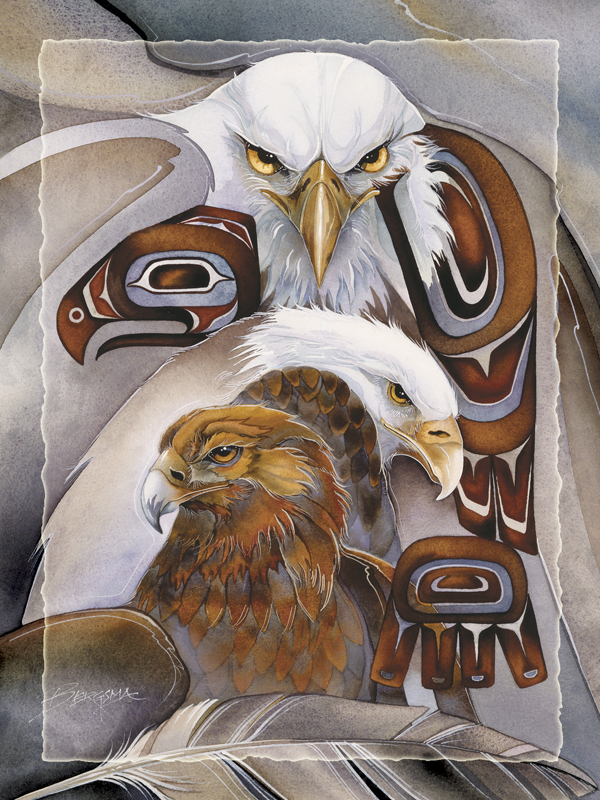 Eagle Spirit - Easel Back Tile