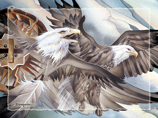 Eagle, Air, East - Easel Back Tile