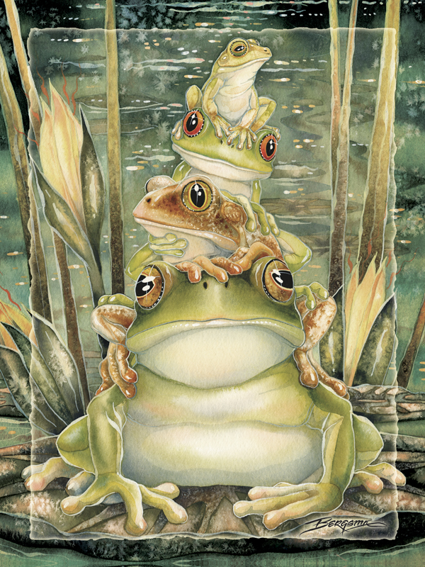 Top Frog - Easel Back Tile