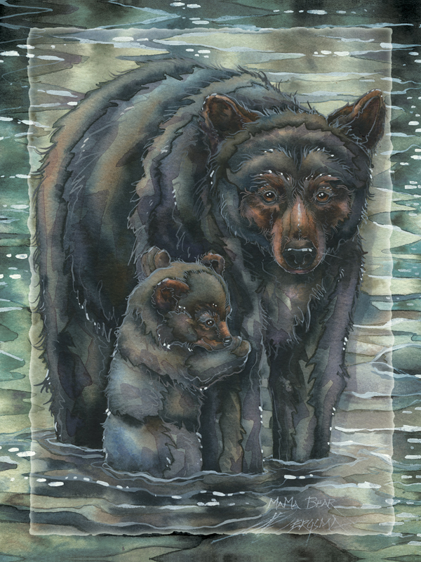 'This Bears My Love' Easel Back Tile