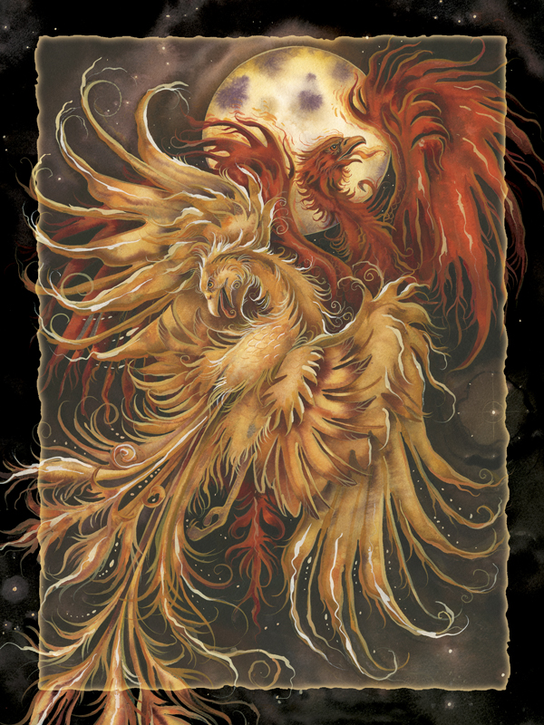 phoenix Rising - Easel Back Tile