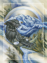 Soaring Above It All - Easel Back Tile