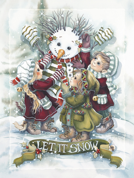 Let It Snow - Easel Back Tile
