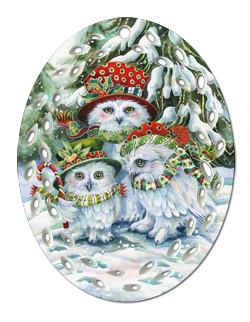 'OWL Be Home for Christmas' Ornament