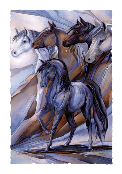 Horses / Inspired By The Five Winds - Art Card
