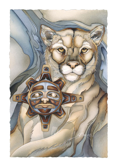 Wild Cats / Masks For The Sun - Art Card