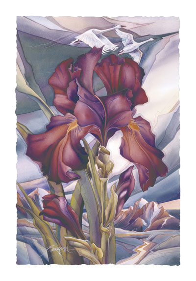 Irises / This Is The Day - Art Card