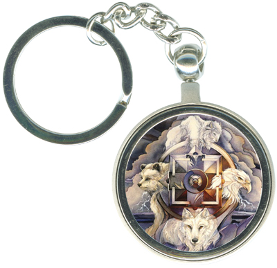 Multiple Animal Types / Medicine Wheel - Key Chain