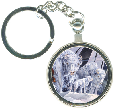 Buffalo / White Buffalo - Key Chain