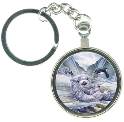 Otters / Home On The Waves - Key Chain