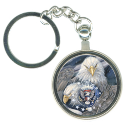 Eagles (Patriotic) / Sheltered Under Mighty Wings - Key Chain