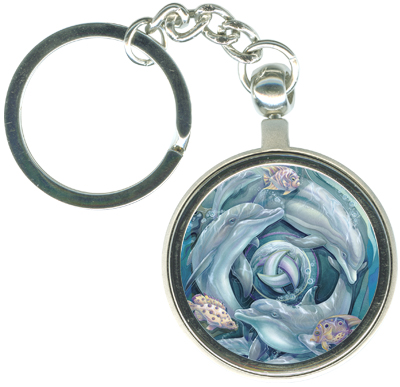 Dolphins / Dolphin Planet - Key Chain