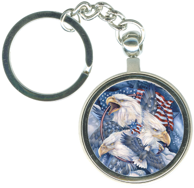Eagles (Patriotic) / Allegiance - Key Chain