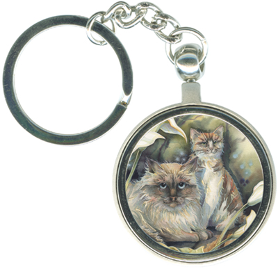 Cats / Cat-a-lilies - Key Chain