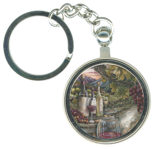 Vineyard / Wine Is Proof... - Key Chain   (CLON)