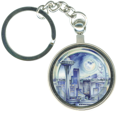 Cityscape / Seattle... City Of Dreams - Key Chain