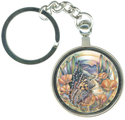 Butterflies / Bloom Where You Are Planted - Key Chain