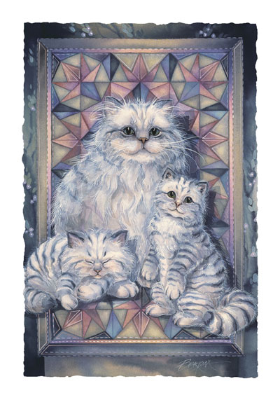 Cats / Warmed By The Comfort Of A Friend - Art Card