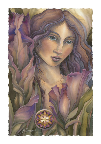 Women / Spirit Of The Flowers - Art Card