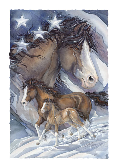 Horses / Spirit Of Freedom - Art Card