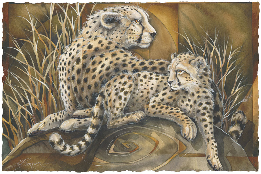 Wild Cats / The Spiral Of Life - Art Card