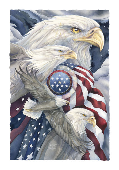 Eagles (Bald) / Together We Stand... - Art Card