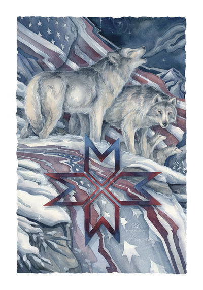 Wolves / Song For Freedom - Art Card