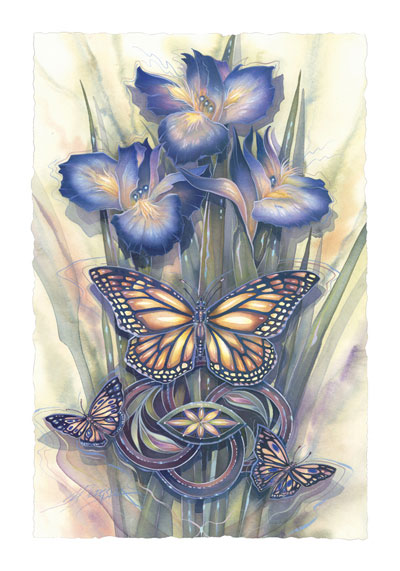 Butterflies / A New Day Has Come - Art Card