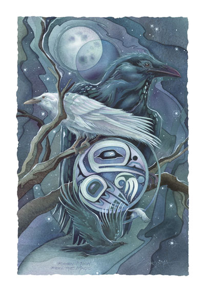 Ravens / Raven Moon - Art Card