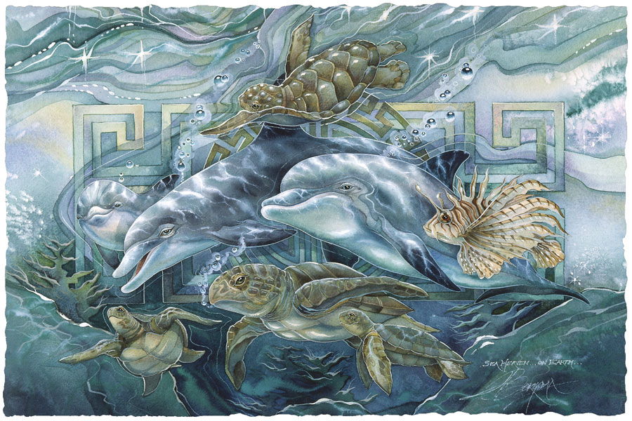 Dolphins / Sea Heaven On Earth - Art Card