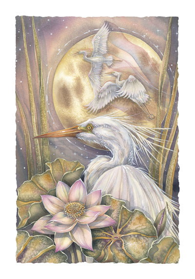 Herons / Now Is The Moment To Live - Art Card
