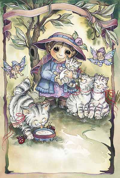 Tabby A Friend... - Dreamkeeper Print