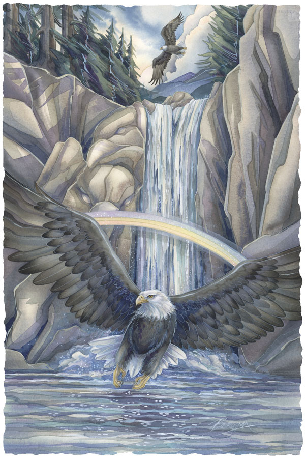 Saced Waters... Sacred Sky... A Season Of Eagles - Prints