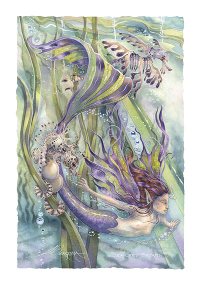 Mermaids & Sea Faeries / Sea-cret Dreams - Art Card