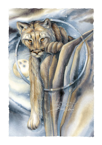 Wild Cats / In Silence, I Am Strong - Art Card