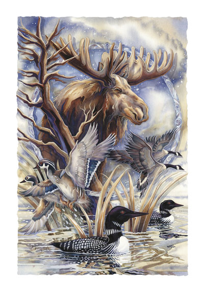 Moose / Sometimes I'm By Myself, But I'm Never A Loon - Art Card