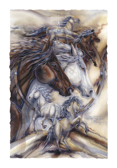 Horses / Ride The Wind - Art Card