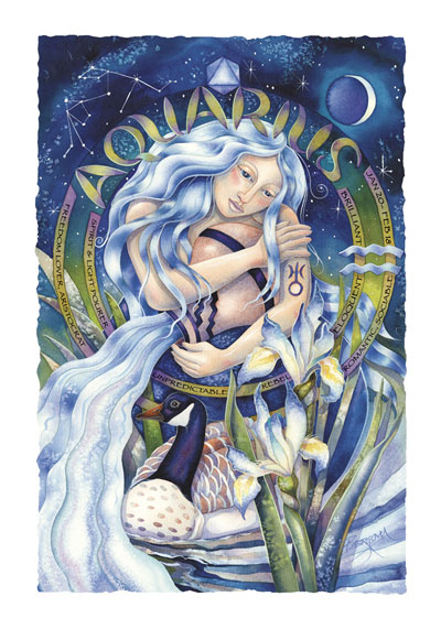 Zodiac Series / Aquarius - Art Card