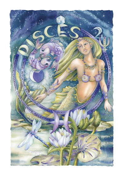 Zodiac Series / Pisces - Art Card