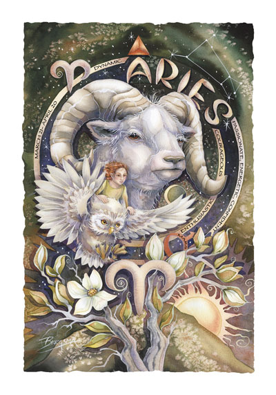 Zodiac Series / Aries - Art Card