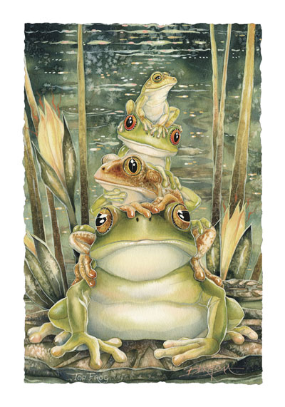 Frogs / Top Frog - Art Card