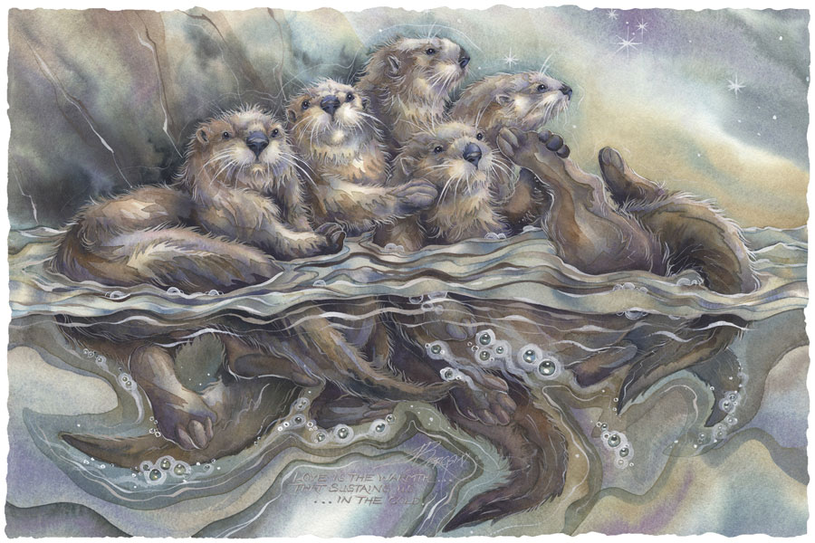Otters / No Matter Who Or Where We Are... - Art Card