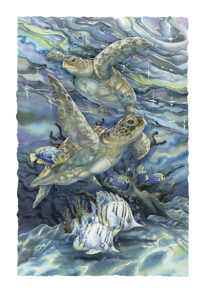 Turtles / Sea Tranquility - Art Card
