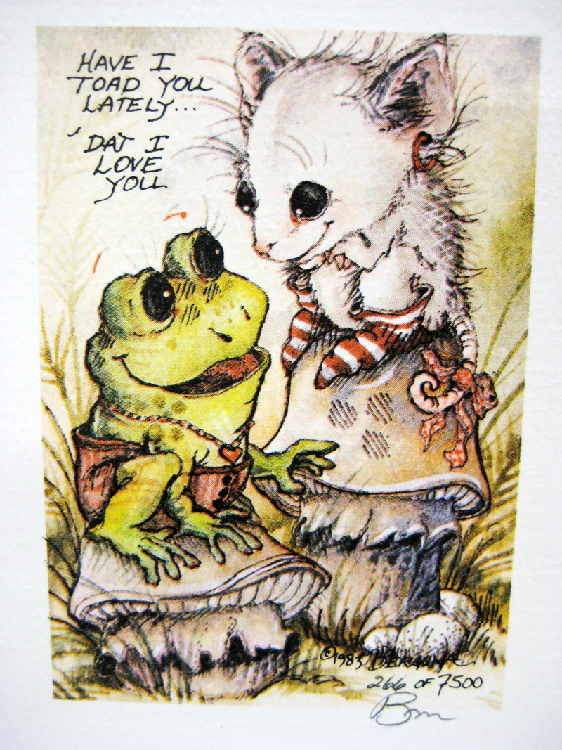 Have I toad you lately that I love you? - DreamKeeper Print