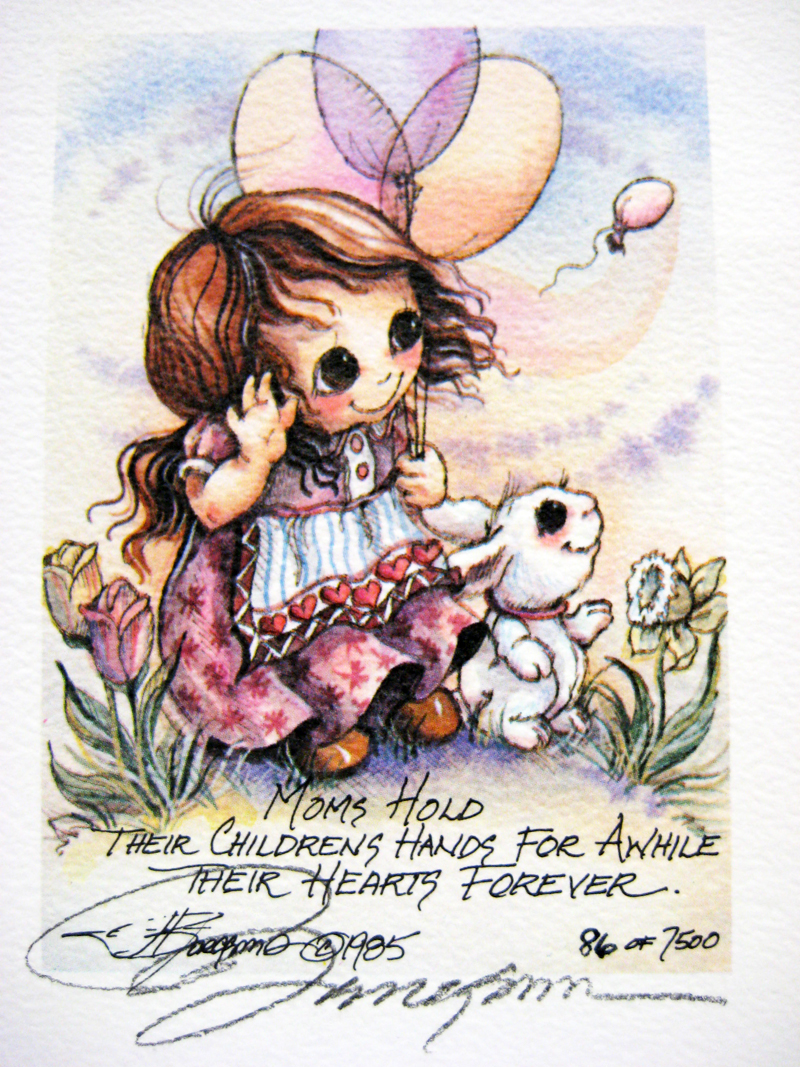 Moms hold their childrens' hands for awhile . . . - DreamKeeper Print